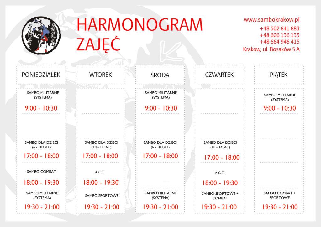 harmonogram-treningow-sambo-krakow-2016_2017